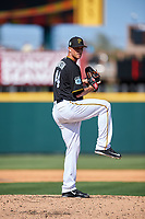 Pittsburgh Pirates relief pitcher Tony Watson (44) delivers a pitch during a Spring Training game against the Tampa Bay Rays on March 10, 2017 at LECOM Park in Bradenton, Florida.  Pittsburgh defeated New York 4-1.  (Mike Janes/Four Seam Images)