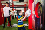 HSBC Try Rugby Zone at Hysan Place prior to the HSBC Hong Kong Rugby Sevens 2018 on 05 April 2018, in Hong Kong, Hong Kong. Photo by Chung Yan Man / Power Sport Images