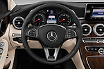 Car pictures of steering wheel view of a 2017 Mercedes Benz C Class Base 4 Door Sedan