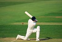 Batsman hits a ball off his legs for runs