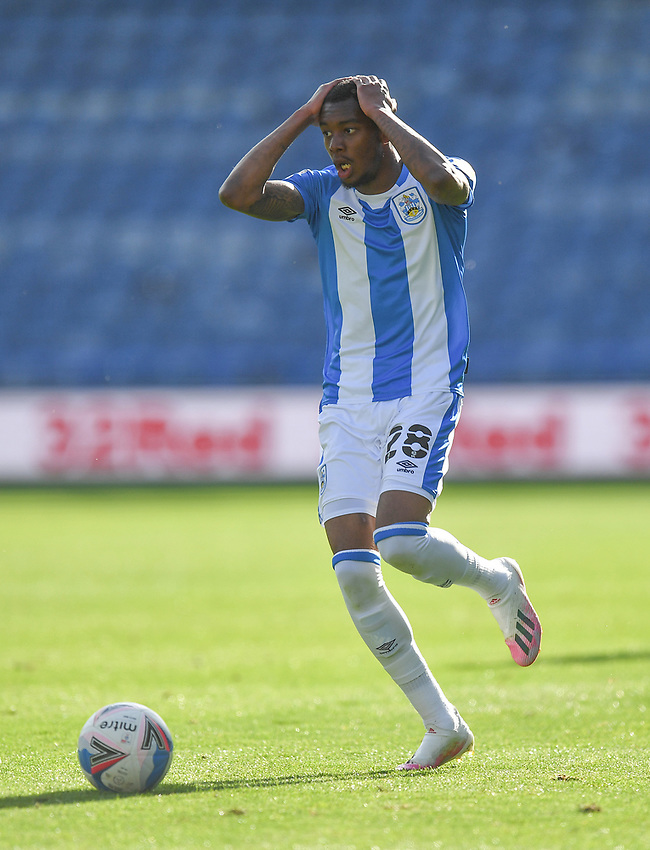 Huddersfield Town's Jaden Brown<br /> <br /> Photographer Dave Howarth/CameraSport<br /> <br /> The EFL Sky Bet Championship - Huddersfield Town v Norwich - Saturday September 12th 2020 - The John Smith's Stadium - Huddersfield<br /> <br /> World Copyright © 2020 CameraSport. All rights reserved. 43 Linden Ave. Countesthorpe. Leicester. England. LE8 5PG - Tel: +44 (0) 116 277 4147 - admin@camerasport.com - www.camerasport.com