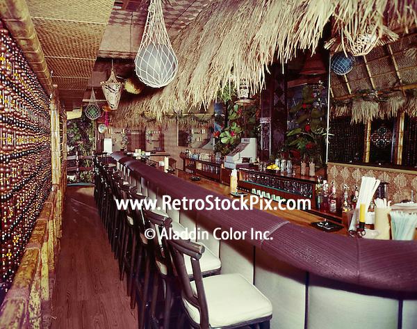 Beachcomber Hotel, Harrisburg PA. Tiki themed bar.