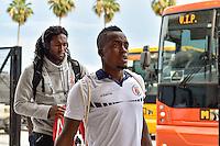 Orlando, FL - Wednesday June 08, 2016:  Haiti arrives at the stadium prior to a Copa America Centenario Group B match between Brazil (BRA) and Haiti (HAI) at Camping World Stadium.