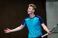 Alphen aan den Rijn, The Netherlands, 25 Januari 2019, ABNAMRO World Tennis Tournament, Supermatch, Igor Straatsma (NED)<br /> <br /> Photo: www.tennisimages.com/Henk Koster