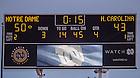 Oct 11, 2014; Scoreboard indicating the final score of the North Carolina game. (Photo by Matt Cashore)