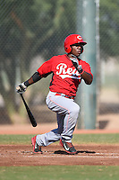 Cincinnati Reds catcher Shedric Long (30) during an Instructional League game against the Los Angeles Dodgers on October 11, 2014 at Goodyear Training Complex in Goodyear, Arizona.  (Mike Janes/Four Seam Images)