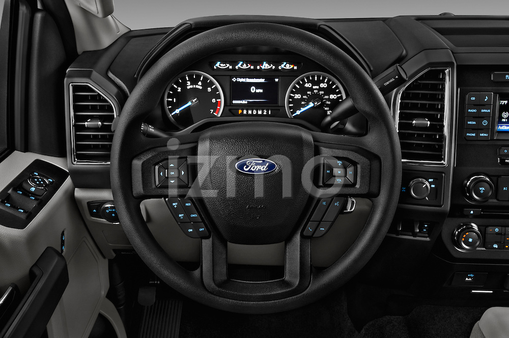 Car pictures of steering wheel view of a 2017 Ford F-250 XLT-SuperCab 4 Door Pickup Steering Wheel