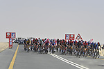 Km0 and the start of Stage 1 of the 2021 UAE Tour the ADNOC Stage running 176km from Al Dhafra Castle to Al Mirfa, Abu Dhabi, UAE. 21st February 2021.  <br /> Picture: LaPresse/Fabio Ferrari | Cyclefile<br /> <br /> All photos usage must carry mandatory copyright credit (© Cyclefile | LaPresse/Fabio Ferrari)