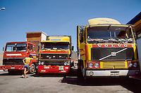- trucks waiting for the ferry going to Greece in Brindisi....- autocarri in attesa del traghetto per la Grecia a Brindisi