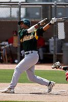 Douglas Landaeta -  Oakland Athletics - 2009 spring training.Photo by:  Bill Mitchell/Four Seam Images