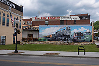 Hinton, West Virginia.  Downtown Street Mural.