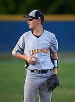 Lakewood Spartans Connor East (6) during a game against the Boca Ciega Pirates at Boca Ciega High School on March 2, 2016 in St. Petersburg, Florida.  Boca Ciega defeated Lakewood 2-1.  (Mike Janes/Four Seam Images)
