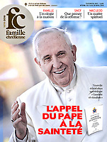 Famille Chrétienne France Magazine Pope Francis.11 Aprile, 2018. <br /> Photograph by Stefano Spaziani.