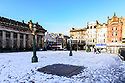 The Mound, usually teeming with life at the Christmas Market, remains empty, as Edinburgh gets its first dusting of snow in the first Covid Winter. Edinburgh has been placed in Tier 4 restrictions due to the Covid-19 pandemic.