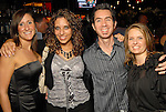 From left: Morgan McGregor, Cara Musso, Will Farrow and Rachel Thompson at the grand opening of the Valentino restaurant at the Hotel Derek Thursday Oct. 15,2009. (Dave Rossman/For the Chronicle)