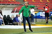 BUCARAMANGA- COLOMBIA,  23-08-2021.Oscar Upegui director técnico del Atlético Bucaramanga gesticula durante partido por la fecha 6 entre Atlético Bucaramanga y el Atlético Huila como parte de la Liga BetPlay II DIMAYOR 2021 jugado en el estadio  Alfonso López  de la ciudad de Bucaramanga . / Oscar Upegui coach of Atletico Bucaramanga gestures during Match for the date 6 between Atletico Bucaramanga and Atletico Huila as part of the BetPlay DIMAYOR League II 2021 played at Alfonso Lopez  stadium in Bucaramanga city.Photo: VizzorImage / Jaime Moreno / Contribuidor