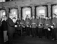 ARCHIVE <br /> <br /> Le Premier ministre et chef de l'union-Nationale<br /> Daniel Johnson<br /> a l'assemblee nationale<br /> , 1967 (date exacte inconnue)<br /> <br /> Photographe : Photo Moderne