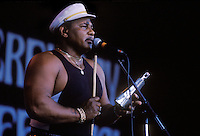Musician Aaron Neville performs at the Monterey Blues Festival. Monterey, California, USA