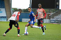 Cohen Bramall of Colchester United looks to slip the ball inside the defence during Colchester United vs Oldham Athletic, Sky Bet EFL League 2 Football at the JobServe Community Stadium on 3rd October 2020