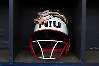 GREENSBORO, NC - MARCH 11: Northern Illinois University batting helmet during a game between Northern Illinois and UNC Greensboro at UNCG Softball Stadium on March 11, 2020 in Greensboro, North Carolina.