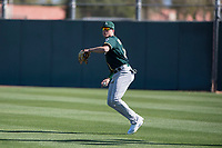 Oakland Athletics outfielder Tyler Marincov (25) during Spring Training Camp on February 24, 2018 at Lew Wolff Training Complex in Mesa, Arizona. (Zachary Lucy/Four Seam Images)