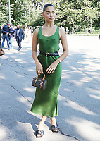 NEW YORK, NY- SEPTEMBER 10: Shanina Shaik seen at the NYFW S/S 2022 Michael Kors fashion show at Tavern On The Green in New York City on September 10, 2021. Credit: RW/MediaPunch<br /> CAP/MPI/RW<br /> ©RW/MPI/Capital Pictures