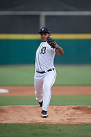 Detroit Tigers pitcher Marco Jimenez (26) during a Florida Instructional League game against the Toronto Blue Jays on October 19, 2020 at Joker Marchant Stadium in Lakeland, Florida.  (Mike Janes/Four Seam Images)