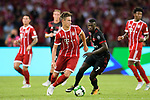 Bayern Munich Defender Marco Friedl (L) in action during the 2017 International Champions Cup China match between FC Bayern and AC Milan at Universiade Sports Centre Stadium on July 22, 2017 in Shenzhen, China. Photo by Marcio Rodrigo Machado/Power Sport Images