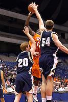 SAN ANTONIO, TX - NOVEMBER 17, 2007: The United States Naval Academy Midshipmen vs. The University of Texas at San Antonio Roadrunners Men's Basketball at the Alamodome. (Photo by Jeff Huehn)