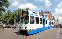 Nederland Amsterdam  2016. Tram 5 in de Leidsestraat. Foto Berlinda van Dam / Hollande Hoogte