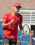August 30,2019:  Alex de Minaur (AUS) defeated Kei Nishikori (JPN) 6-2, 6-4, 2-6, 6-3, at the US Open being played at Billie Jean King National Tennis Center in Flushing, Queens, NY.  ©Jo Becktold/CSM