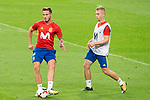 Saul Niguez and Gerard Deulofeu during Spain training session at Santiago Bernabeu Stadium in Madrid, Spain September 01, 2017. (ALTERPHOTOS/Borja B.Hojas)