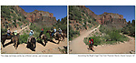 Asian tourists, Bright Angel Trail, diagonal lines, Grand Canyon National Park, horses, pathway, solo hiker, stage technique 33, storytelling, teaching photography, tourists, woman hiking