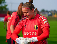 20200911 - TUBIZE , Belgium : goalkeeper Justien Odeurs pictured during a training session of the Belgian Women's National Team, Red Flames , on the 11th of September 2020 in Tubize. PHOTO SEVIL OKTEM  SPORTPIX.BE