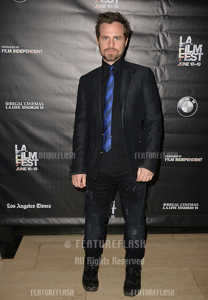 """Rider Strong at the premiere of """"Too Late"""", part of the LA Film Festival, at the Bing Theatre at LACMA.<br /> June 11, 2015  Los Angeles, CA<br /> Picture: Paul Smith / Featureflash"""