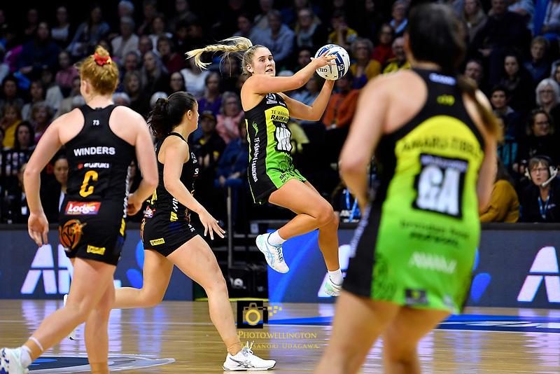 Maddy Gordon of the Pulse during the ANZ Premiership Netball - Pulse v Magic at TSB Bank Arena, Wellington, New Zealand on Sunday 30 May 2021.<br /> Photo by Masanori Udagawa. <br /> www.photowellington.photoshelter.com