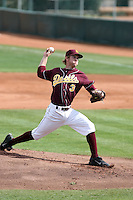 Jordan Swagerty, Arizona State Sun Devils - Annual Alumni game at Packard Stadium, Tempe, AZ - 02/06/2010..Photo by:  Bill Mitchell/Four Seam Images.