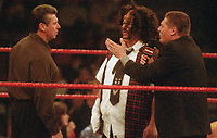 Vince MaMahon Micky Foley William Regan 2001                                                                      Photo by  John Barrett/PHOTOlink