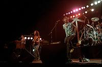 La tournee  A FOND D'TRAIN d'OFFenbach avec Plume, aout 1983<br /> <br /> PHOTO : Agence Quebec Presse