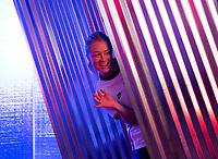 ORLANDO, FL - FEBRUARY 28: Emily Sonnett #14 poses at studio on February 28, 2020 in Orlando, Florida.