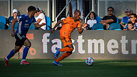 SAN JOSE, CA - JULY 24: Fafa Picault #10 of the Houston Dynamo during a game between San Jose Earthquakes and Houston Dynamo at PayPal Park on July 24, 2021 in San Jose, California.
