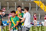 John B. O'Halloran Captain, Kilmoyley Kilmoyley players celebrate after winning the Kerry County Senior Hurling Championship Final match between Kilmoyley and Causeway at Austin Stack Park in Tralee