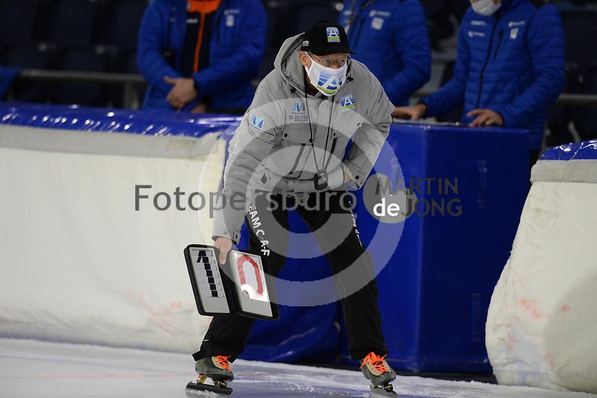 SCHAATSEN: HEERENVEEN: 10-10-2020, KNSB Trainingswedstrijd, Jillert Anema, ©foto Martin de Jong