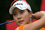 CHON BURI, THAILAND - FEBRUARY 17:  Hee Young Park of South Korea tees off on the 17th hole during day two of the LPGA Thailand at Siam Country Club on February 17, 2012 in Chon Buri, Thailand.  Photo by Victor Fraile / The Power of Sport Images