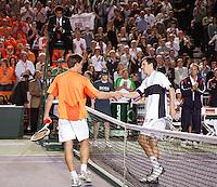 8-4-07, England, Birmingham, Tennis, Daviscup England-Netherlands, Igor Sijsling   Tim Henman