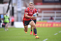 30th August 2020; Kingsholm Stadium, Gloucester, Gloucestershire, England; English Premiership Rugby, Gloucester versus Leicester Tigers; Ollie Thorley of Gloucester on his way to scoring his fourth try