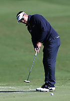 17th October 2020; Richmond, Virginia, USA; Brandt Jobe sinks a short putt on the first green during the Dominion Energy Charity Classic on October 17, 2020, at The Country Club of Virginia James River Course in Richmond