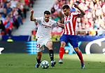 Sevilla FC's Sergio Reguilon and Atletico de Madrid's Angel Correa competes for the ball during La Liga match. Mar 07, 2020. (ALTERPHOTOS/Manu R.B.)