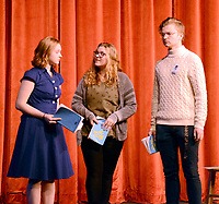 """Marc Hayot/Herald Leader. Isabelle Pennick (left), and Clayton Hoskins discuss their escape with """"Mother Superior"""" Britney O'Brien."""