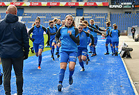 Warm up KRC Genk Ladies pictured during a female soccer game between  Racing Genk Ladies and SV Zulte-Waregem on the 18 th and last matchday before the play offs of the 2020 - 2021 season of Belgian Scooore Womens Super League , saturday 27 th of March 2021  in Genk , Belgium . PHOTO SPORTPIX.BE | SPP | JILL DELSAUX